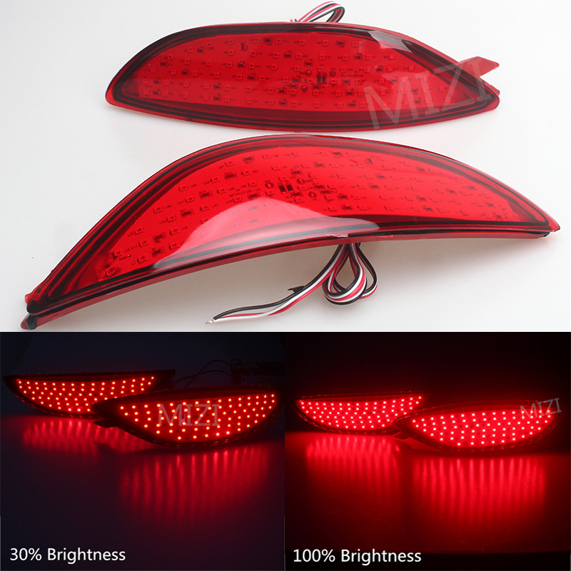 2Pcs For Hyundai Accent/Verna Car Warning Rear Bumper Brake Light Tail Light 2008 2009 2010 2011 2012 2013 2014 2015 Accessories accent verna solaris for hyundai led tail lamp 2011 2013 year red color yz
