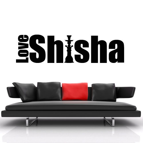Wall Decal Sticker Hookah Hooka Shisha Lounge Relax Inscription Bar Hause