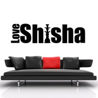 Wall Decal Sticker Hookah Hooka Shisha Lounge Relax Inscription Bar Hause