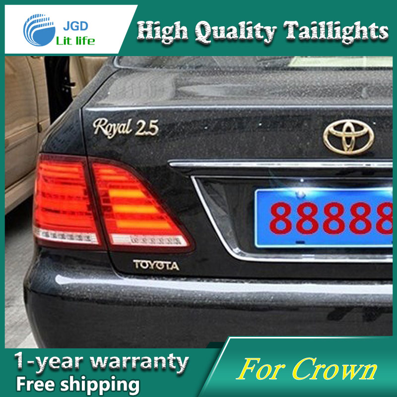 Car Styling Tail Lamp for Toyota Crown 2003-2009 Tail Lights LED Tail Light Rear Lamp LED DRL+Brake+Park+Signal Stop Lamp car styling tail lamp for toyota corolla led tail light 2014 2016 new altis led rear lamp led drl brake park signal stop lamp