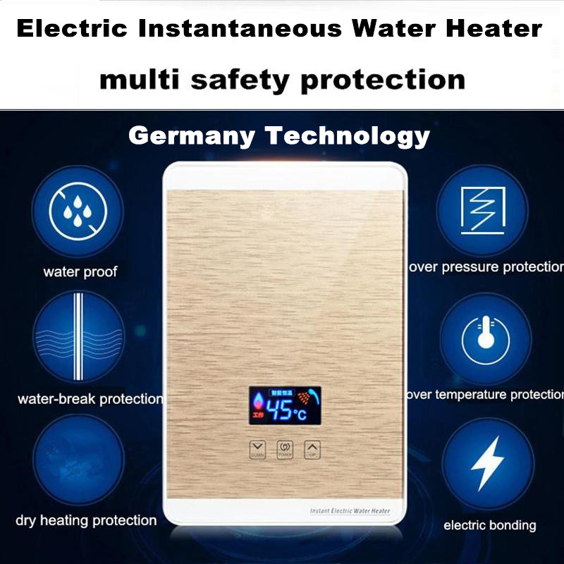 Continuous water heater Digital Display Iphone Style Bathroom ...