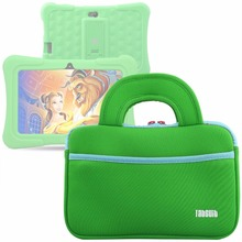Green Laptop Sleeve Notebook Bag Tablet Case For Dragon Touch 7 inch Computer For Asus HP Acer Toshiba for Y88X Plus Tablet Gift