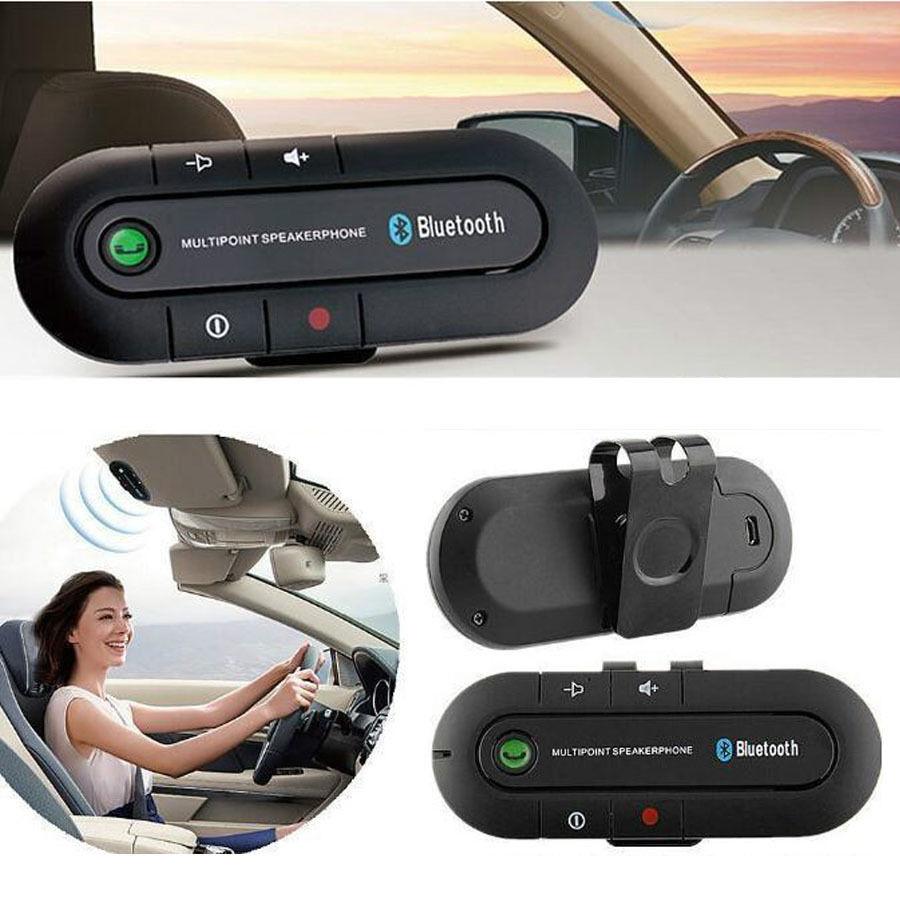Wireless Bluetooth Multipoint Hands Free Car Speakerphone Speaker Visor Clip