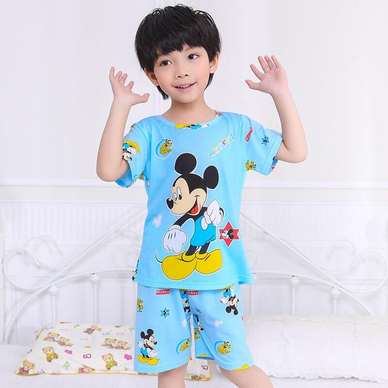 Cartoon Children Short Sleeve   Pajamas   2019 Spring Summer Boy Girl Sleepwear Baby Nightwear Child Gift Kids Lovely Pyjamas   Set