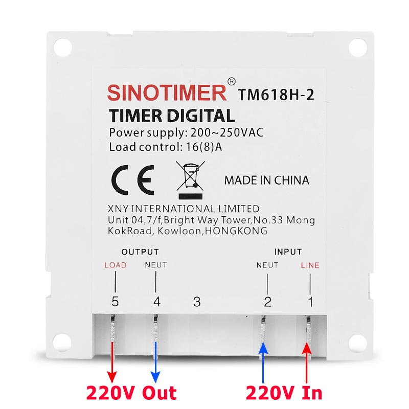 Wiring Electronic Timer Switch Diagram Schematics. Aliexpress Buy Tm618h 2 220v Ac Digital Timer Switch Output Installation Wiring Electronic. Wiring. Maytag Timer 2 044766 3 Wiring Schematic At Scoala.co