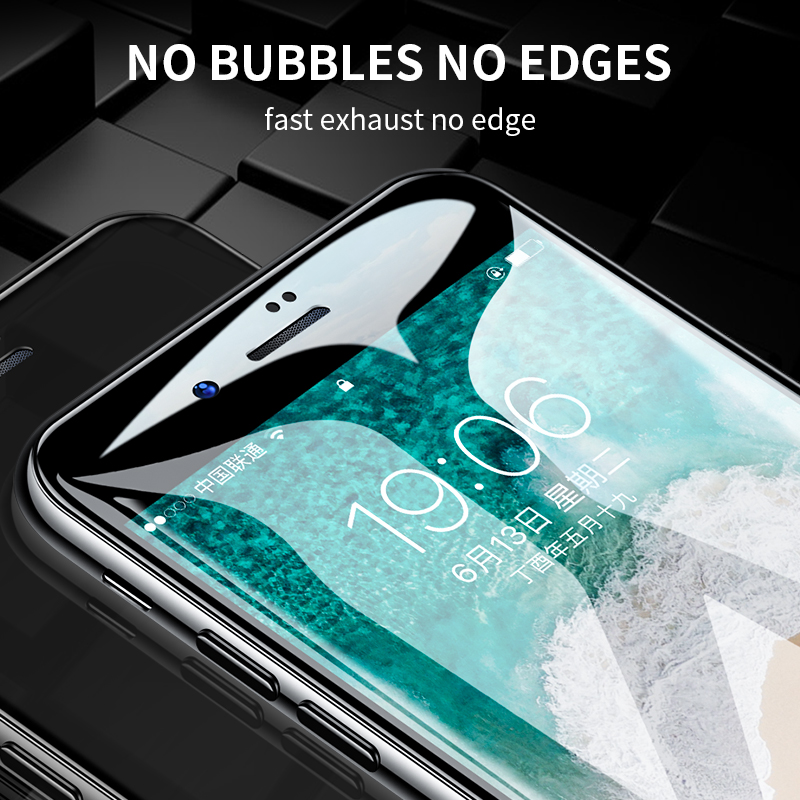 H&A Full Cover 6D Edge Tempered Glass For iPhone X 7 8 6 6s Plus Screen Protector For iPhone 10 6 6s 7Plus Film Protection