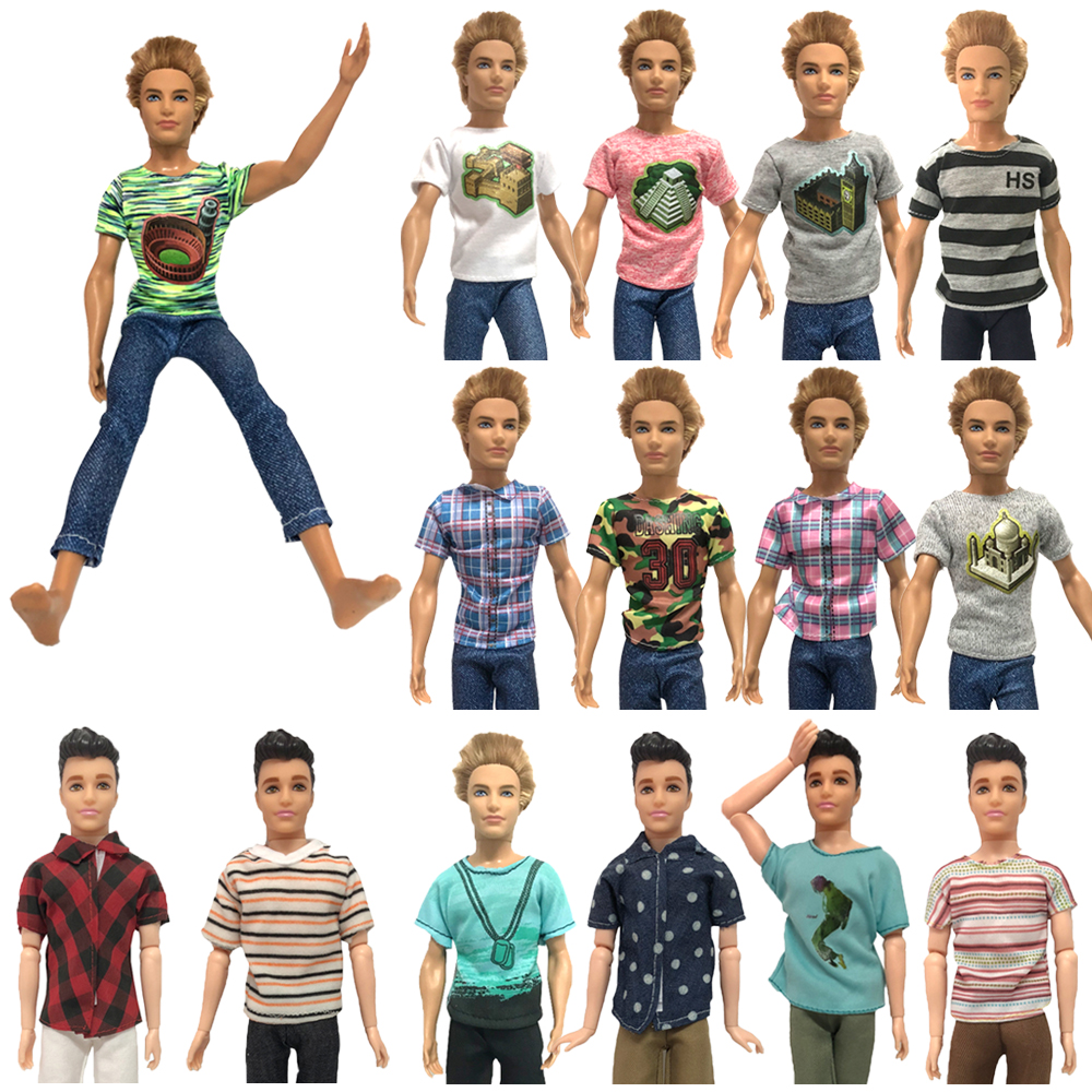 NK Mix  Prince Ken Doll Clothes Fashion Suit Cool Outfit For Barbie Boy KEN Doll Best Children's Birthday Presents Gift KA1 JJ