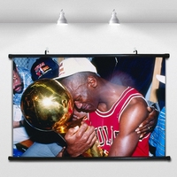 NBA championship Jordan Basketball Poster Wall paintings Wall Sticker Banners Hanging Waterproof Cloth Art Decor 40X60 CM
