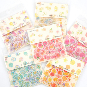 80pcs/lot Kawaii Stickers Colorful Small Flower Stickers Self-Adhesive Decoration Paper Diary Ipod Phone Stickers Party Favors