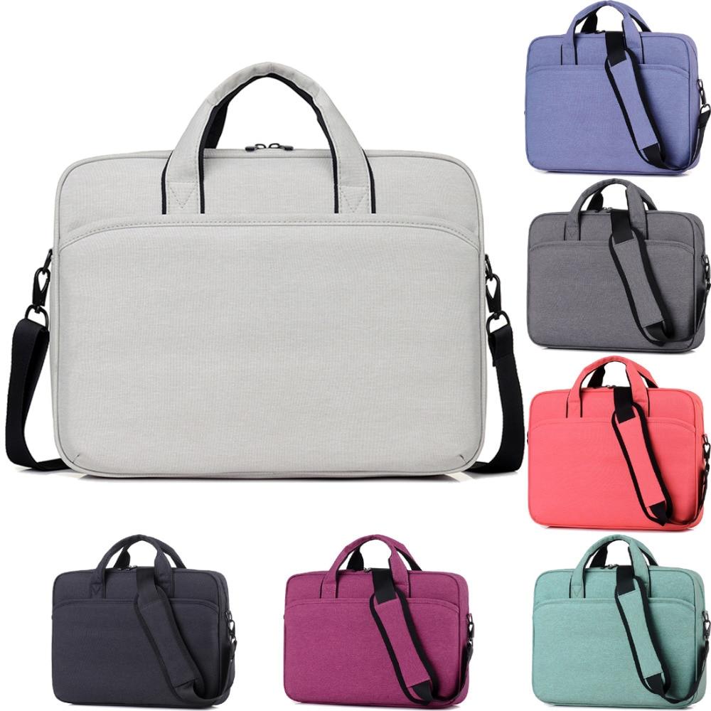 11 12 13 14 15 15.6 17 17.3 Inch Waterproof Linen Laptop Solid Notebook Tablet Bag Bags Case Messenger Shoulder for Men Women