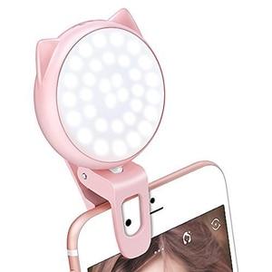 Image 4 - Selfie halka ışık kamera, klip [şarj edilebilir pil] Selfie Led kamera işık [32 Led] ile uyumlu Iphone,Ipad, fotoğraf #8