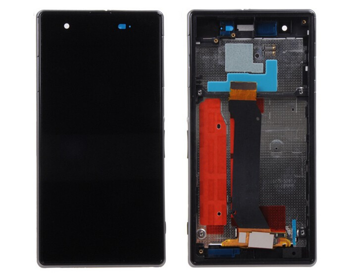 DHL 10pcs 100% Test LCD Display + Touch Screen Digitizer Assembly For Sony For Xperia Z1S L39T with Frame Black Free Shipping