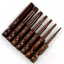 7 Teile/satz 50mm 1,5-6mm Hex-schraubendreher-bits S2 Stahl Magnetische Bohrmaschine Innensechskant-schraubendreher Kopf Leistungstreiber Werkzeuge