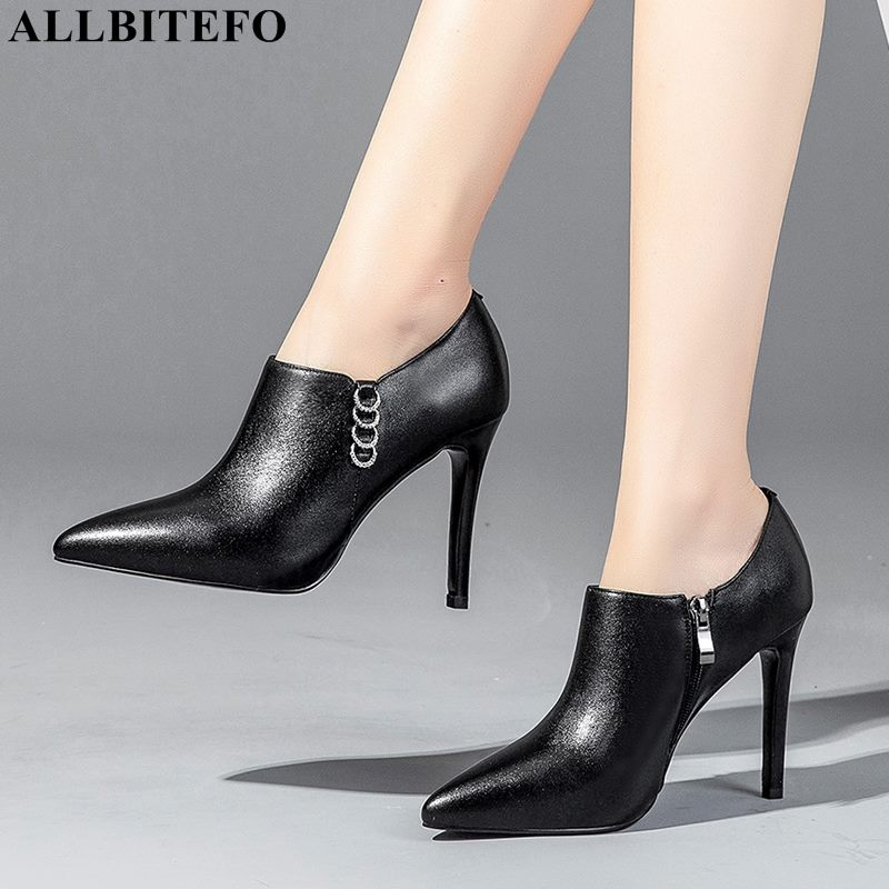 ALLBITEFO sexy high heels party women shoes genuine leather women high heel shoes fashion Rhinestone women heels girls shoesALLBITEFO sexy high heels party women shoes genuine leather women high heel shoes fashion Rhinestone women heels girls shoes