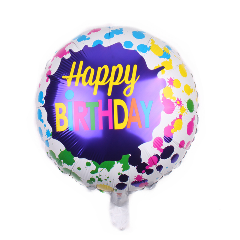 Ballons & Accessories Xxpwj Free Shipping Round Birthday Aluminum Balloon Party Toy Party Decoration Balloon A-036