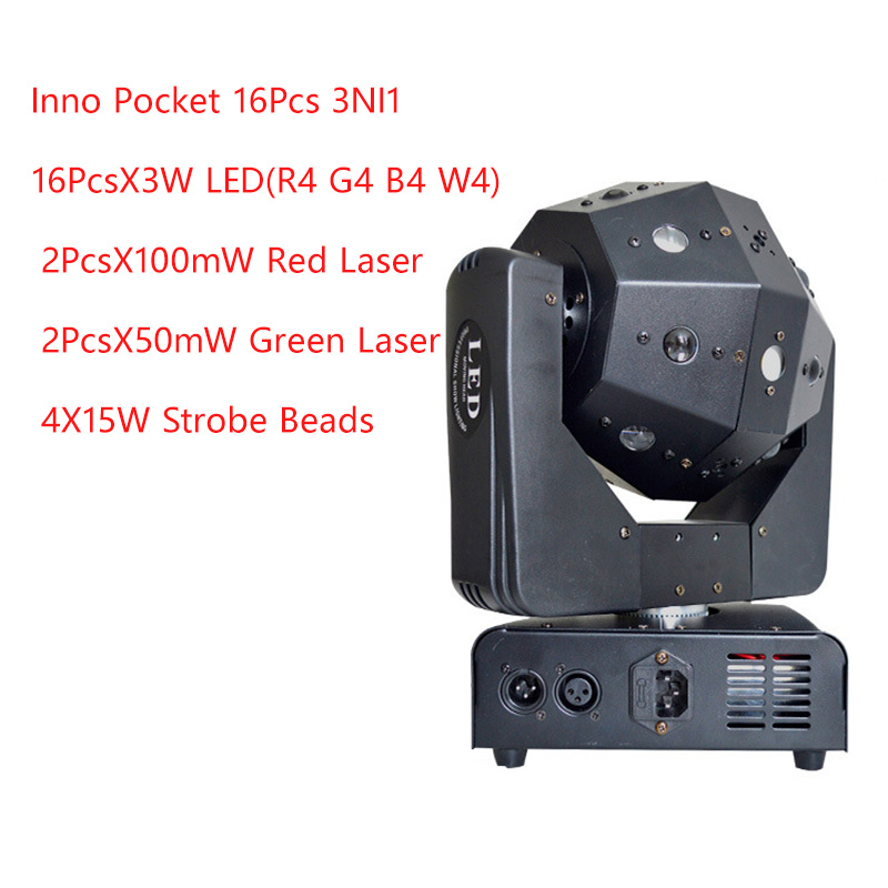 3in1 Beam /Laser/Strobe Light 16x3w Moving Head Light Football DMX512 Laser Light DJ /Bar /Party /Show /Stage Light