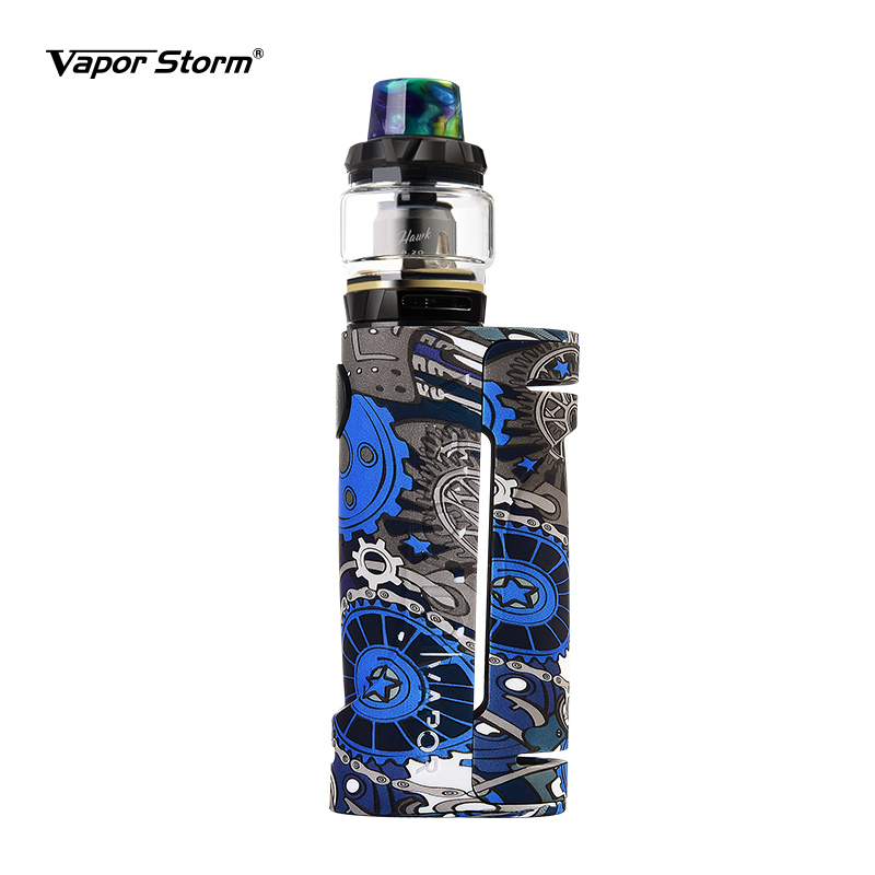 Electronic Cigarette Box Mod Vape Vapor Storm Eco Max 90w Graffiti Color Bypass Mode 510 Thread Without Battery Support Rda Rdta