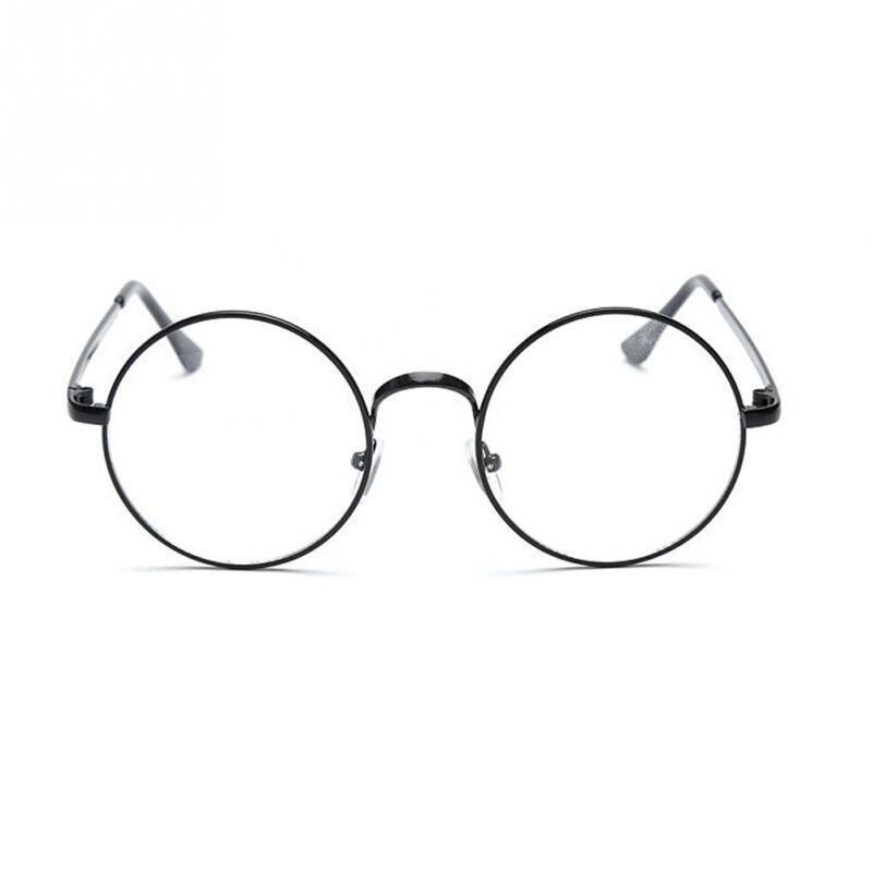Vintage Style Frauen/Männer Beliebte Runde Metall Klare Linse Gläser ...