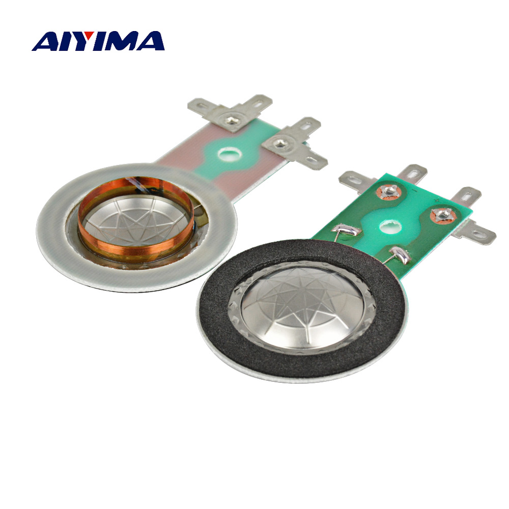 AIYIMA 2Pcs 25.5MM Treble Voice Coil Titanium Diaphragm Horn Speaker Tweeter Voice Coil