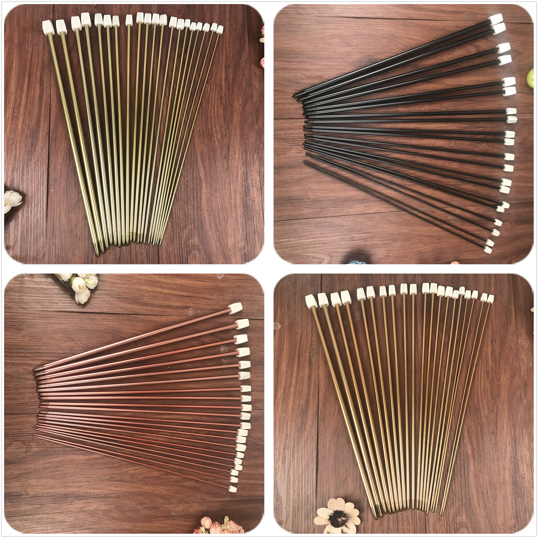 4 Color 20PCS/set 35cm  Stainless Steel Single Pointed Knitting Needles Crochet Hook Tool Craft Knitting Needles Set 2.5mm-8.0mm