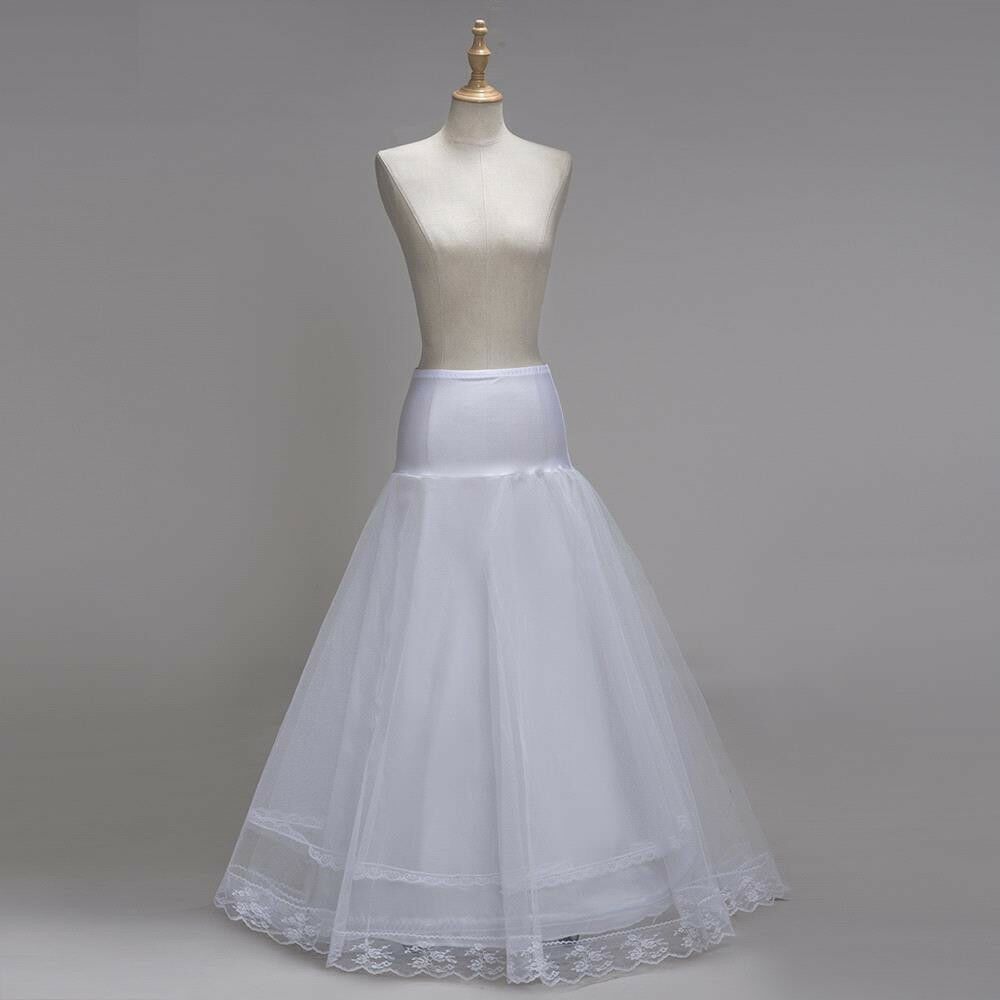 2019 White Hoop Long Bridal Wedding Petticoat Crinoline Ball Gown Skirt Underskirt Slips Wedding Accessories Jupon Mariage