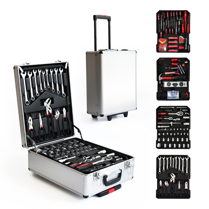 Tool Box Garage Tools Equipment Storage Trolley Case Kit Set Workshop Steel 599pcs Tools For Car Home Household Hand Tool Case