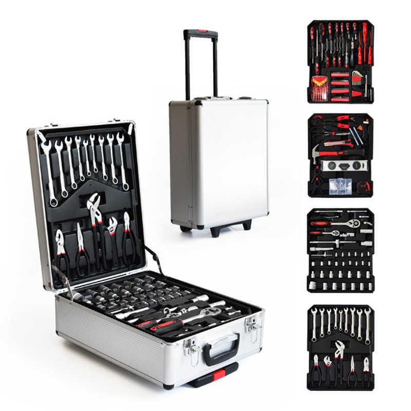 Tool Box Garage Tools Equipment Storage Trolley Case Kit Set ...