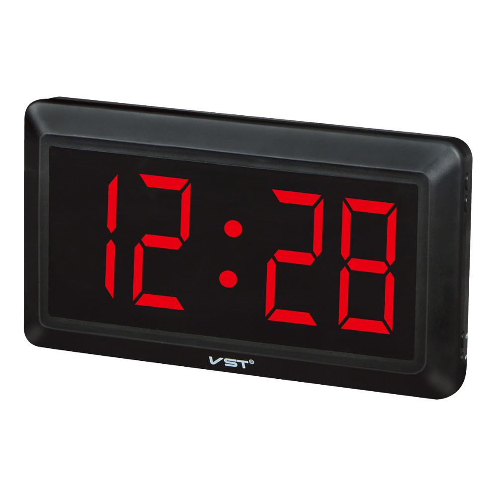 US $28 88 |2017 24 Hours new Modern Table clock,LED Wall Clock , Big  numbers Large Display digital clocks With EU/US plug-in Alarm Clocks from  Home &