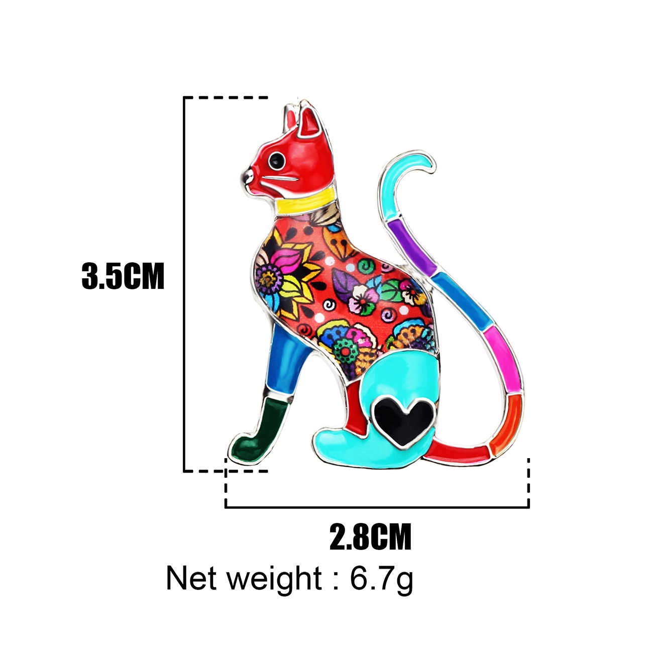 WEVENI Dello Smalto Della Lega del Gatto Spille Monili di Modo Animale Spille Per Le Donne Vestiti Delle Ragazze del Vestito Sciarpa Decorazione Bijoux Accessori Nuovo
