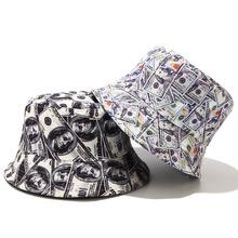 2019 bawełna dwustronna twórczy Dollar graffiti wiadro kapelusz na ryby kapelusz zewnątrz podróży kapelusz kapelusz czapka przeciwsłoneczna kapelusze dla kobiet 12 tanie tanio LDSLYJR COTTON Kobiety Dla dorosłych Mieszkanie bucket hat Wiadro kapelusze Na co dzień Drukuj