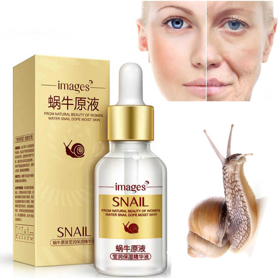 ภาพ Snail Extract Serum Face Essence Anti Wrinkle Hyaluronic Acid Anti Aging Collagen Whitening Moisturizing Face Care Beauty