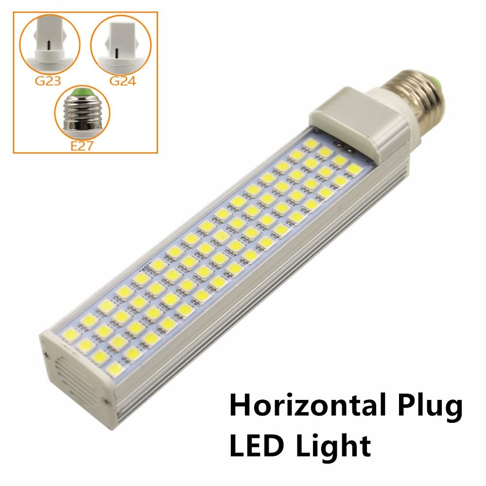 10pcs/lot 16W LED Corn Lamp E27 G23 G24 LED Horizontal Plug Light Spotlight SMD5050 AC85-265V White/Warm White Free Shipping e26 e27 b22 18w led corn light smd5050 corn light ac85 265v