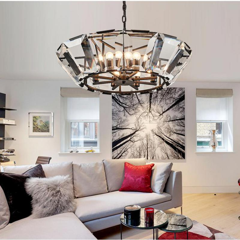 Nordic Living Room Crystal Chandelier Light Luxury Chandeliers Light lustres de cristal for Living Dining Room Hotel Decor led chandeliers for dining room bedroom kitchen white color k9 crystal chandelier light for home decoration lustres para quarto