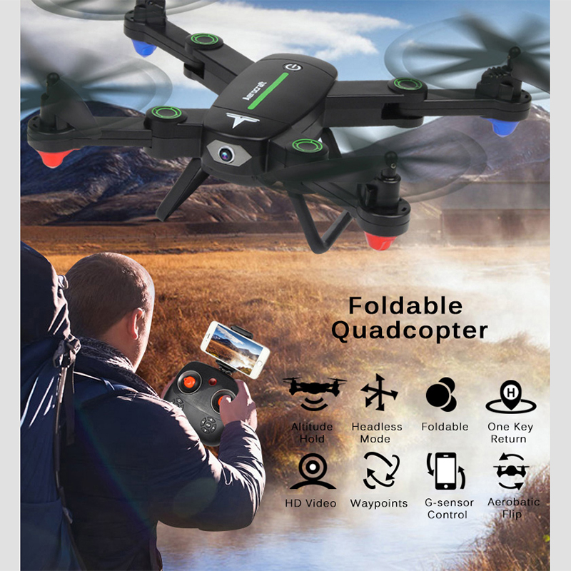 Selfie Foldable RC Drone With Camera HD 0.3MP Original F16W RC Quadcopter Altitude Hold WIFI FPV Dron Remote Control Helicopter