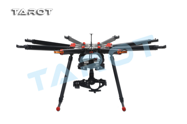 Tarot X8 TL8X000 ALL Carbon 8-Axis Electric retractable landing skids set Multirotor Octocopter Frame FPV DHL Shipping f11270 tarot x8 tl8x000 8 axle octocopter umbrella type folding frame multicopter electronic retractable landing skid for fpv