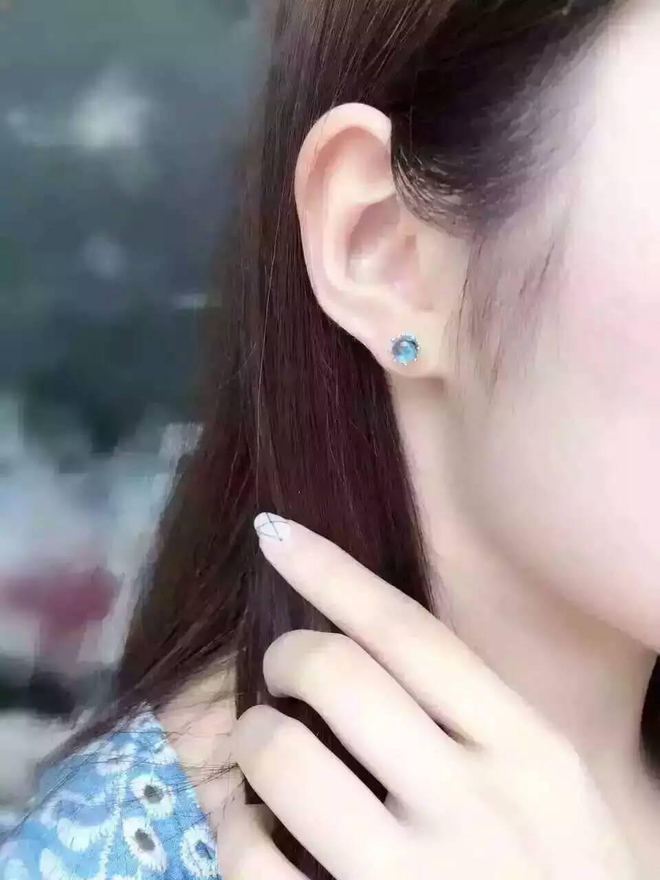 ต่างหูหินบุษราคัมธรรมชาติ925เงินธรรมชาติสีฟ้าพลอยต่างหูผู้หญิงบุคลิกภาพที่สง่างามแฟชั่นรอบสำหรับพรรค-ใน ต่างหู จาก อัญมณีและเครื่องประดับ บน AliExpress - 11.11_สิบเอ็ด สิบเอ็ดวันคนโสด 3