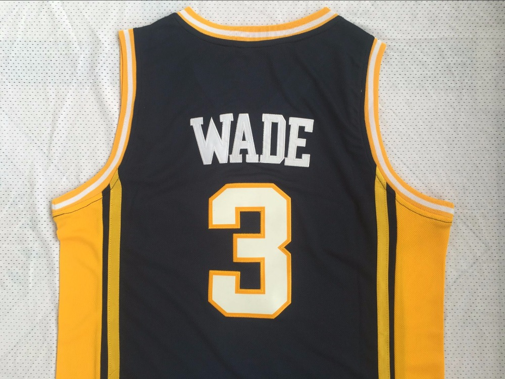 fc1851d1237 ... czech dwyane wade jersey 3 marquette university basketball jersey mens  throwback sport shirt all stitched in