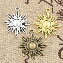 20pcs Charms sun 28*24mm Hollow Antique charms,Zinc alloy pendant fit,Vintage Tibetan Silver,DIY for bracelet necklace