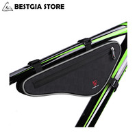 NEW Large Capacity Reflective Bicycle Front Bag MTB Road Bike Top Tube Bag Bike Panniers Triangle