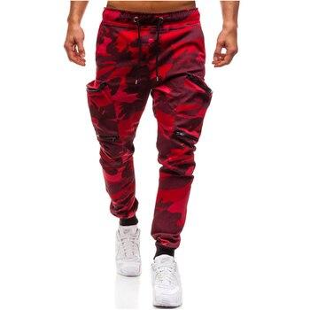 Men Brand Clothing Autumn Multi-Pocket  Camouflage Pants