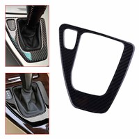 CITALL Car Carbon Fiber and Epoxy Gear Shift Knob Surround Panel Cover Frame Fit for BMW E90 E91 E92 E93 AT Automatic M