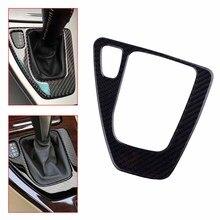 CITALL Car Carbon Fiber and Epoxy Gear Shift Knob Surround Panel Cover Frame Fit for BMW E90 E91 E92 E93 AT Automatic M