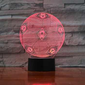 7 Colors Changing 3D Illusion Lamp Soccer Night Lights 3D Desk Light Luminaria Table Football Lamp for Fan's Gift 3D-888 - DISCOUNT ITEM  41% OFF All Category