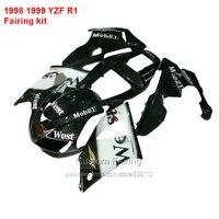 West Fairings For YAMAHA YZF R1 98 99 ( black ) 1998 1999 Abs Fairing kit HY48