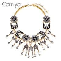 Comiya אקריליק פסיפס פרח אביזרי תליון שרשראות לולאות שרשרת קולייר Femme קניות באינטרנט הודי אתני אנימה