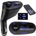 Alta qualidade Grande tela Transmissor FM Sem Fio de alta velocidade de memória Carro MP3 Player WMA 12-24 V Azul Novo