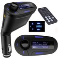 High quality Great Wireless FM Transmitter high speed screen memory Car MP3 WMA Player 12-24V New Blue
