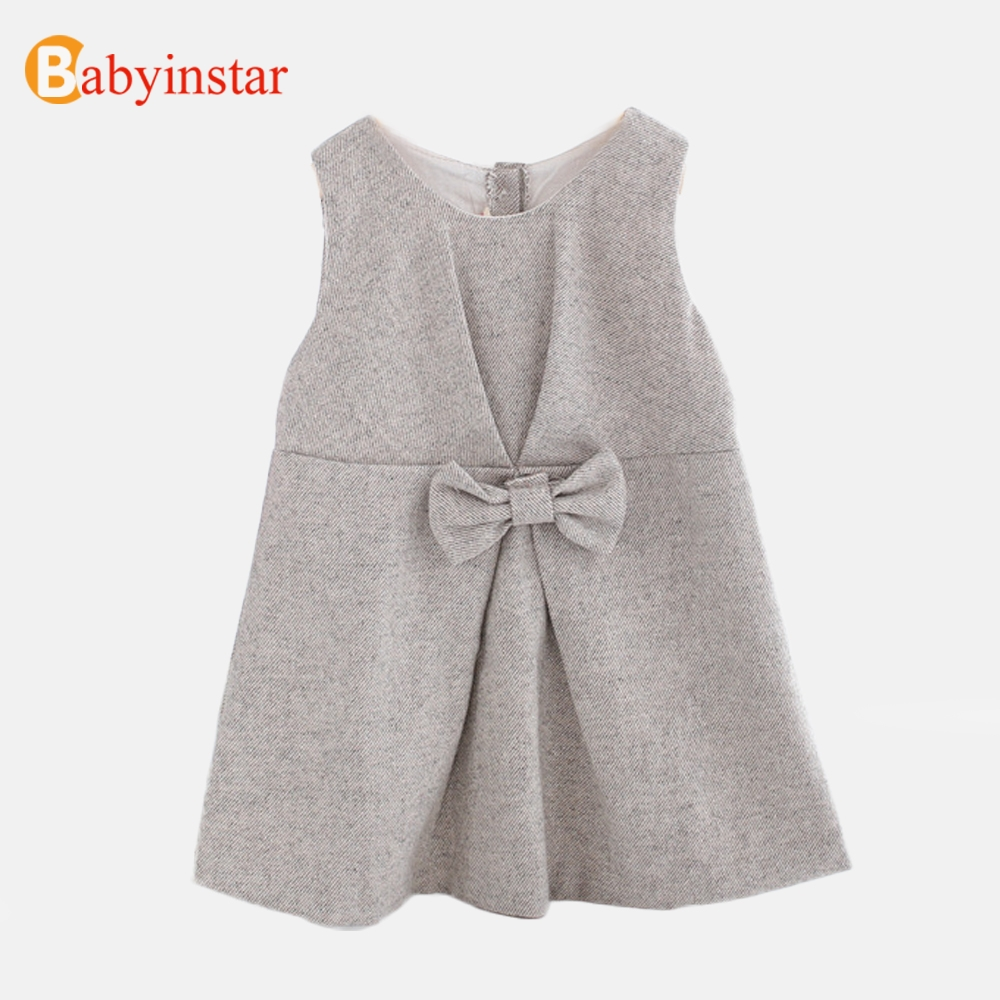 Babyinstar Baby Girls Princess Dress 2019 Autumn&Winter Sleeveless With Bow Dress Toddler Children Clothing Kids Dress For GirlsBabyinstar Baby Girls Princess Dress 2019 Autumn&Winter Sleeveless With Bow Dress Toddler Children Clothing Kids Dress For Girls