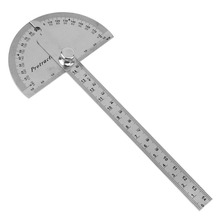 Big sale 0-180 Degree Stainless Steel Adjustable Angle Ruler with 145mm Round Head Rotary Protractor and Adjustable Nut