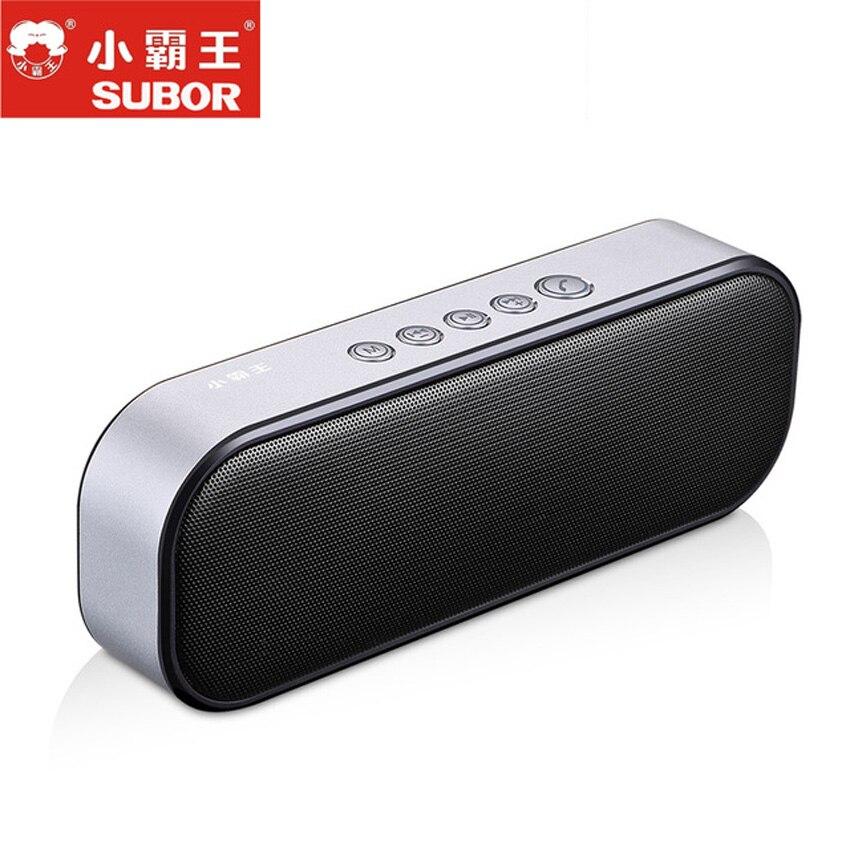 2018 Subor D13 métal Bluetooth haut-parleur Portable sans fil haut-parleur système de son 3D stéréo musique Surround grande batterie en veille